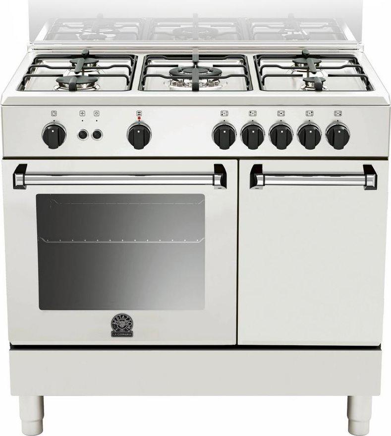 Cucina a gas 5 fuochi la germania forno elettrico 90x60 cm bianco amn905gevpwe ebay - Consumo gas cucina ...