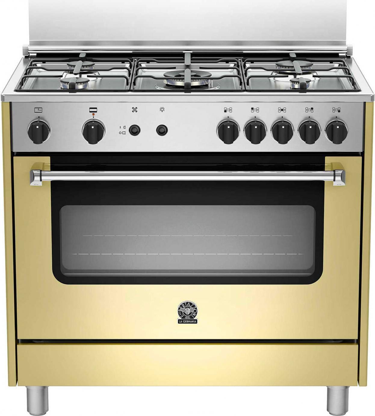 Cucina a gas 5 fuochi la germania forno a gas ventilato - Consumo gas cucina ...