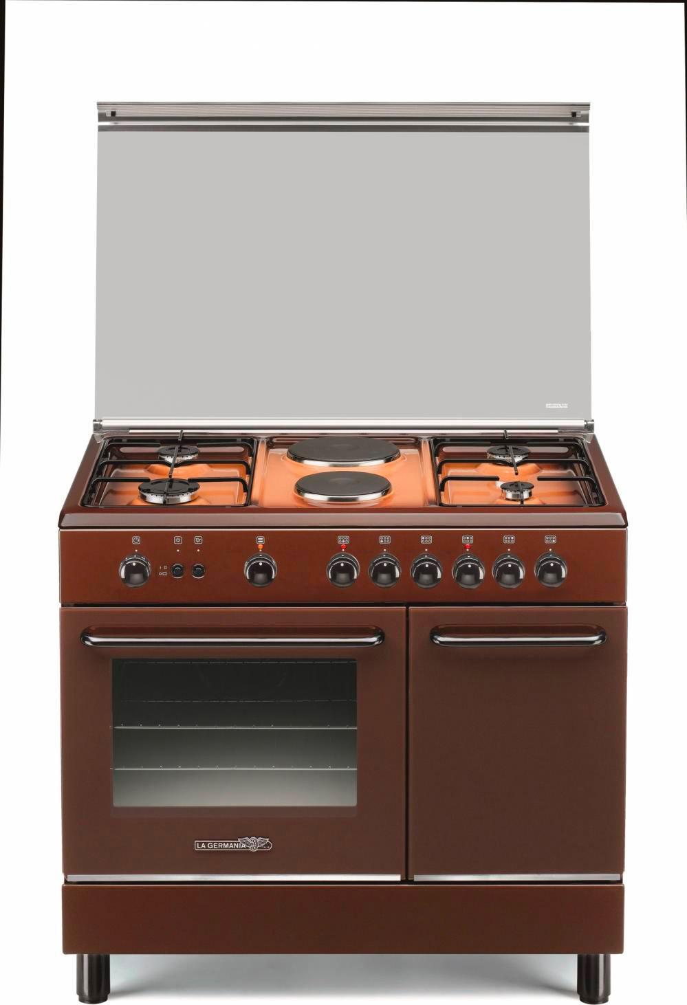 Cucina A Gas 6 Fuochi La Germania Forno Elettrico 90x60 Cm Marrone Sp9 42 41 C Ebay